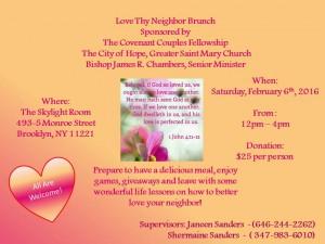 Love Thy Neighbor Brunch 2